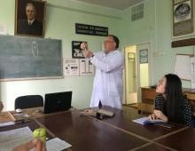 на лекции у Ромашова